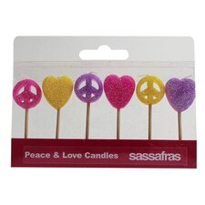 Peace and  Love Party Candle