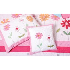 Flower Garden Quilted Pillowcase