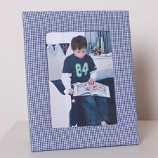 Photo Frame in Blue Gingham