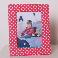 Photo Frame in Red Dotty