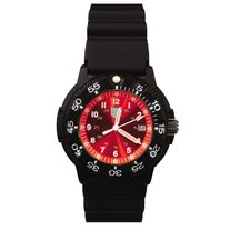 41100 Series Dive Watch with Red Face