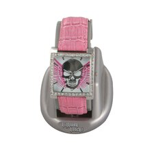 Highway Honey Women's Watch with Skull and Wings Emboss