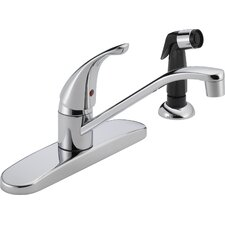 <strong>Peerless Faucets</strong> Single Handle Centerset Kitchen Faucet with Side Spray