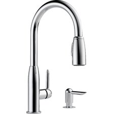 Single Handle Widespread Kitchen Faucet with Soap Dispenser