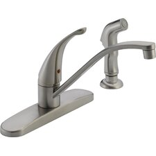 "2.6"" Single Handle Centerset Kitchen Faucet"
