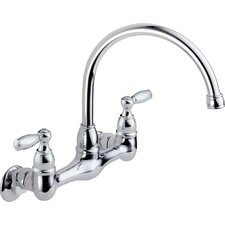 <strong>Peerless Faucets</strong> Two Handle Wall Mounted Kitchen Faucet