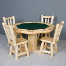 <strong>Northwoods Billiards</strong> Log Poker Table Set