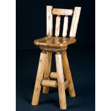 Swivel Log Bar Stool