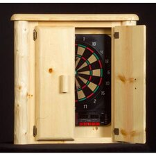 <strong>Northwoods Billiards</strong> Log Dart Board Cabinet