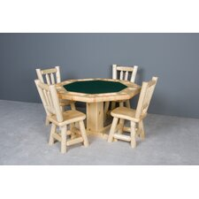 Log Poker Table with Reversible Top