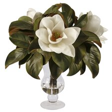 Glass Vase with Magnolias
