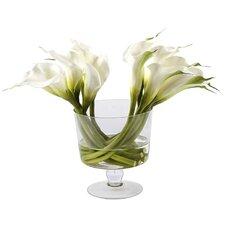 Glass Bowl with Calla Lilies