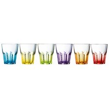 Crazy Colours 6 Piece Long Drink Glass Set