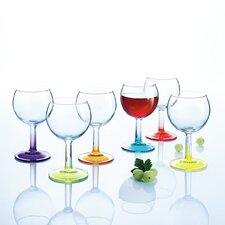 Crazy Colours 6 Piece Wine Globet Set
