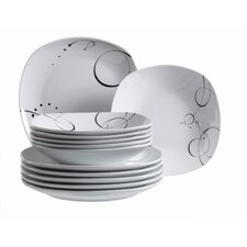 Chanson 12 Piece Porcelain Dinnerware Set
