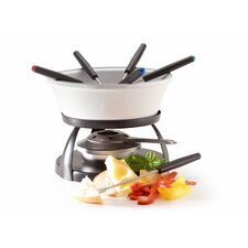 9 Piece Cheese Fondue Set in Hat Box