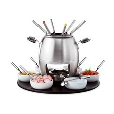 <strong>Domestic by Maser</strong> 23 Piece Fondue Set with Rotating Plate