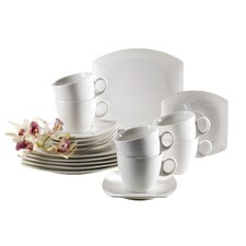 Vicino 18 Piece Porcelain Coffee Set in Ivory