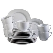 Villa 18 Piece Porcelain Coffee Set in Uni White