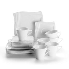 Molina 18 Piece Porcelain Coffee Set in Ivory