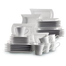 Perfetto 30 Piece Porcelain Dinnerware Set in Uni White