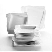 Molina 12 Piece Porcelain Dinnerware Set in Ivory