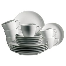 Barca 18 Piece Porcelain Coffee Set in Uni White