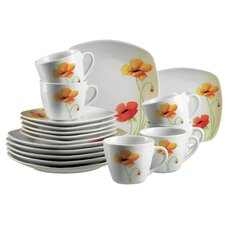 Papavero 18 Piece Porcelain Coffee Set