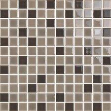 "New Blendz 1"" x 1"" Glass Gloss Mosaic Tile in Chocolate"