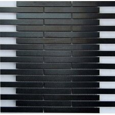 "Dancez Electric Slide 6"" x 5/8"" Brushed Metal Mosaic in Black"