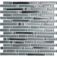 Brushstrokes Peltro Random Sized Mosaic in Gray Multi