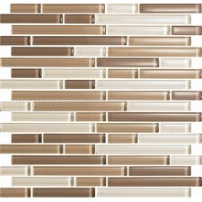 Color Blends Arena Random Sized Glossy Glass Mosaic in Beige Multi