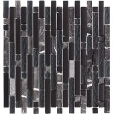 "<strong>Epoch Architectural Surfaces</strong> Varietals Zinfandel 12"" x 12"" Random Mosaic Stone and Glass Blend in Multi"