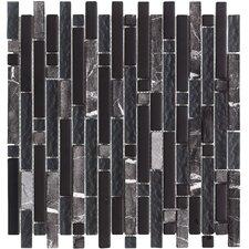 Varietals Zinfandel Random Sized Mosaic Stone and Glass Blend in Multi