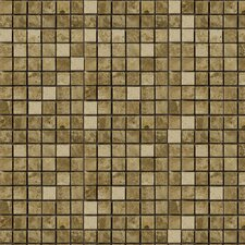 "<strong>Epoch Architectural Surfaces</strong> 12"" x 12"" Polished / Tumbled Marble Mosaic in Emperador Light"
