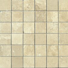 "<strong>Epoch Architectural Surfaces</strong> 12"" x 12"" Tumbled Travertine Mosaic in Durango"