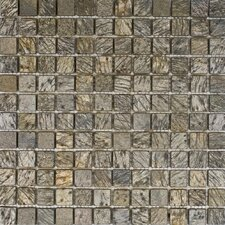 "<strong>Epoch Architectural Surfaces</strong> 12"" x 12"" Tumbled Slate Mosaic in Gold Green"