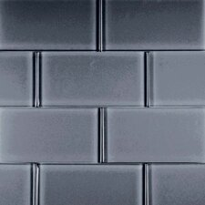 "Dancez Watusi 6"" x 3"" Glass Subway Tile in Black"