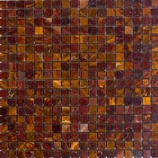 """5/8"""" x 5/8"""" Polished Onyx Mosaic in Red"""