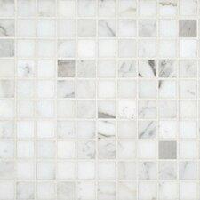 """1"""" x 1"""" Marble Mosaic in Calacatta"""