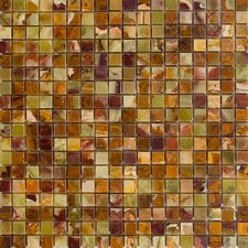 "12"" x 12"" Polished Onyx Mosaic in Green"