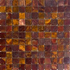 "1"" x 1"" Polished Onyx Mosaic in Red"