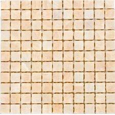 "1"" x 1"" Polished Onyx Mosaic in White"