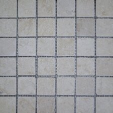 "<strong>Epoch Architectural Surfaces</strong> 12"" x 12"" Tumbled Limestone Mosaic in Sunrise"