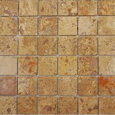 "<strong>Epoch Architectural Surfaces</strong> Noce 12"" x 12"" Tumbled Travertine Mosaic in Brown"