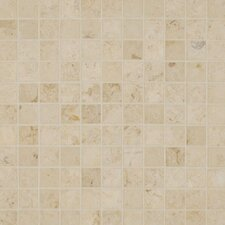 "Jura Honed 12"" x 12"" Limestone Mosaic in Beige"