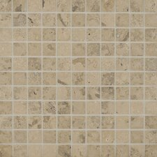 "Jura 12"" x 12"" Honed Limestone Mosaic in Grey"
