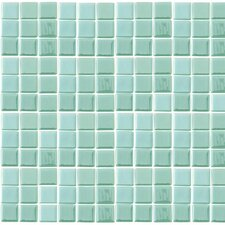 """Futurez Hendrix 1"""" x 1"""" Recycled Glass Glow Frosted Mosaic in Green"""
