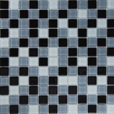 "<strong>Epoch Architectural Surfaces</strong> Dancez Carinosa 12"" x 12"" Glass Mosaic in Black"