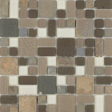 "<strong>Epoch Architectural Surfaces</strong> No Ka 'Oi Wailea 12"" x 12"" Random Mosaic Stone and Glass Blend in Multi"